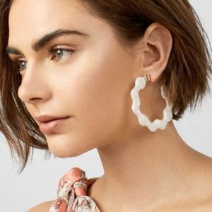 Jewelry - NEW Deena Acrylic Resin Hoop Earrings
